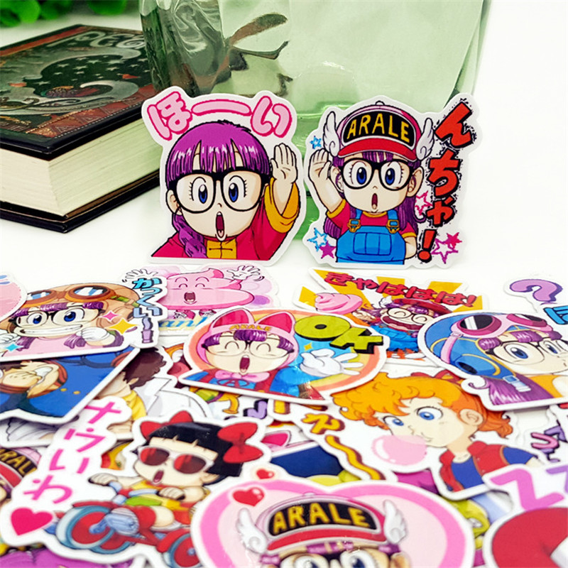 40 Pcs Anime girl everyday Stickers Student supplies DIY Sticker Waterproof Graffiti Sticker For Laptop Luggage kids Toys Car