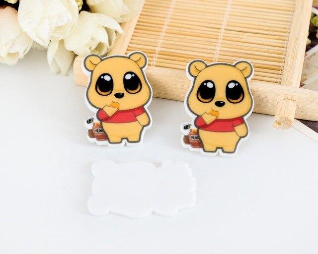 4377a2474ca5 Bear kawaii Winnie the Pooh Cartoon Figurine home decoration crafts flat  back planar resin DIY phone