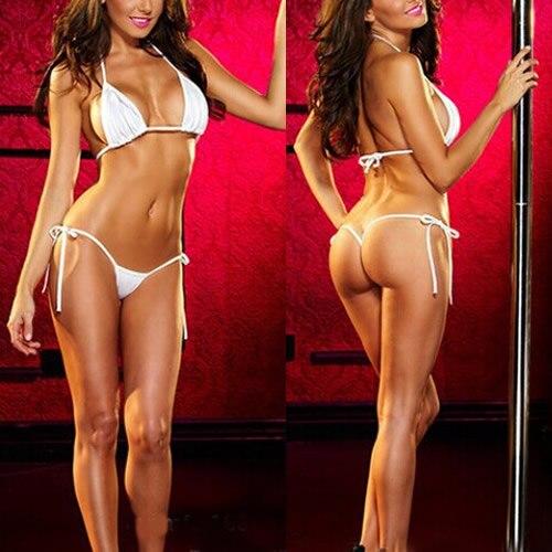 Sexy Charming Women Micro Thong Babydoll Underwear Bra+G-String Bikini Swimwear Sleepwear