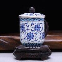 Cloisonné Blau Und Weiß Reim Fuß Silber Tee Tasse Reine Handgemachte Silber Fötus Prise filament Emaille Farbe Becher Kung fu tee-set