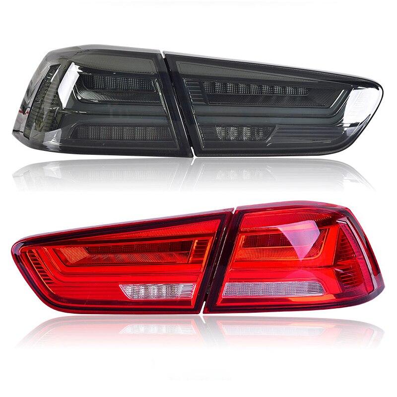 Feu arrière LED pour Mitsubishi Lancer/EVOx 2005-2016 2017 gauche droite feu arrière LED feu arrière clignotant