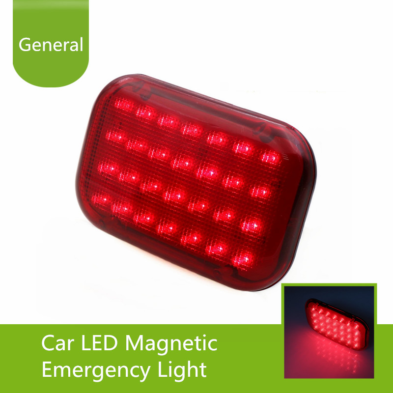 Car LED Magnetic Emergency Light Traffic Safety Warning Flashing Lamp Built-in Rechargeable Battery 28PCS LED Powerful Magnet