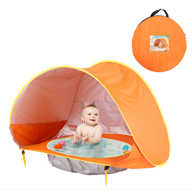Summer Baby Beach Tent UV-protecting Sunshelter With Pool Waterproof for Outdoor Camping Tent Children 's Tent image
