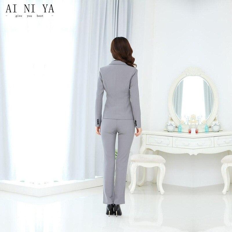 Veste 2 Costumes Dames Choose D'affaires Pièce Uniforme Picture As Slim Pantalon Femme Formelle Color Gris Clair Costume Bureau Femmes Chart D'hiver same rOIrvaq