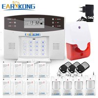 DHL Free Shipping Wireless GSM Home Burglar Security Alarm System With LCD Support Android IOS M2B