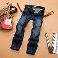 Sulee Marca 2017 de la Alta Calidad Famosa Marca Cotton Jeans Hombres Diseñador Superior de Lujo Europeo Y Americano del Estilo De Las Bragas Masculinas