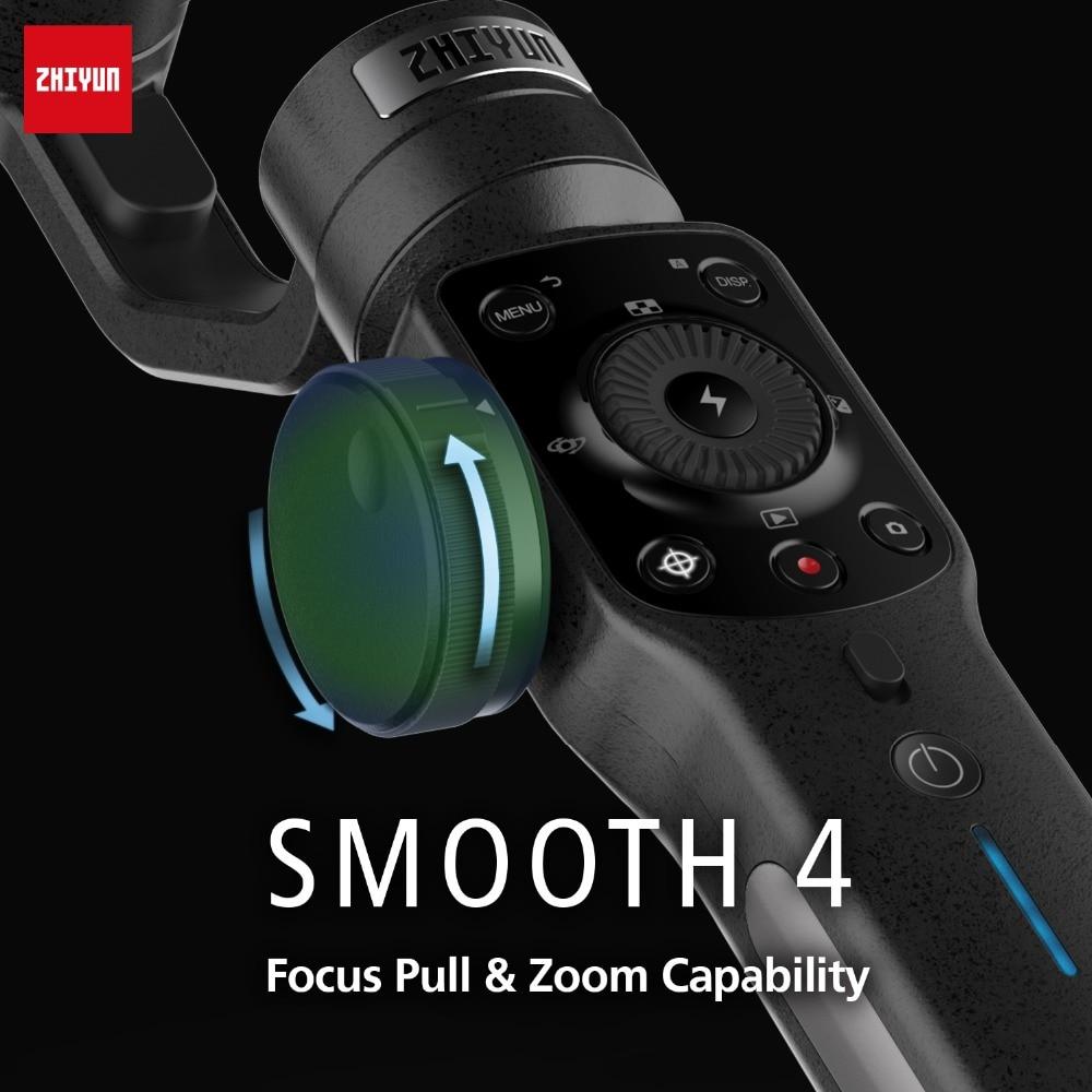 Zhiyun Lisse 4 3-Axes De Poche stabilisateur de cardan w/Focus Pull & Zoom pour iPhone Xs Max Xr X 8 Plus 7 6 SE Samsung caméra d'action - 5