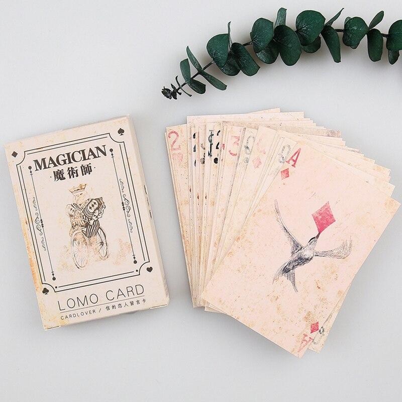 28 pcs/set card lover Magician Poker mini card greeting card lomo memo card kids gift postcard kawaii stationery