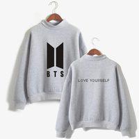 LUCKYFRIDAYF BTS Love Yourself K Pop Women Hoodies Sweatshirts Hoodies Outwear Hip Hop Bangtan Boys Character