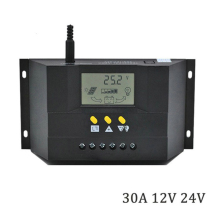 30A LCD Display Solar Charge Controller Solar Panel Controller Regulator Intelligent PWM Charge Mode 12-24V maylar 30a 12v 24v auto pwm solar charge controller lcd display connect solar panels