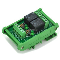 DIN Rail Mount 2 SPDT Power Relay Interface Module OMRON 10A Relay 5V Coil