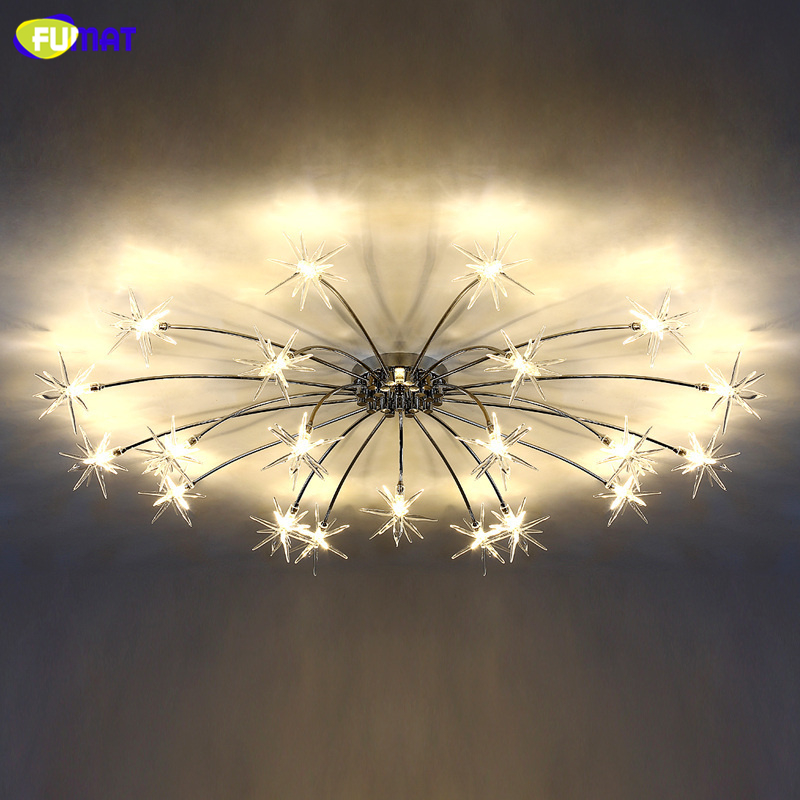 Fumat Led Ceiling Fans Crystal Light Dining Room Living: FUMAT Modern Sky Star Crystal Chandeliers Sitting Round G4