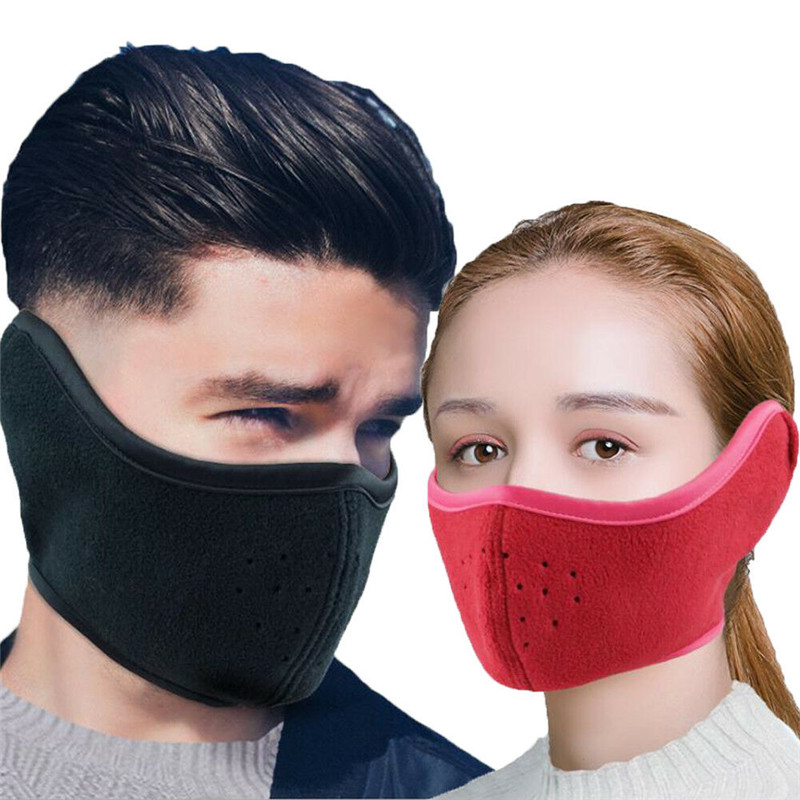 Adjustable Dust-proof Winter Breathable Mesh Bicycle Mask Dust Smog Windproof Protective Mesh Bike MTB Cycling Half Mask F3