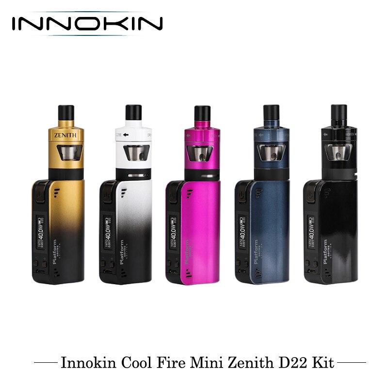 E-cigarettes Innokin CoolFire Mini Zenith D22 40W Kit de démarrage VV/VW Kit de vaporisateur Vape 1300mAh 3ml capacité avec bobine Plexus Z
