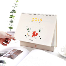 Tow Size Cute Cartoon Four Seasons Table Calendars 2018 Weekly Planner Desk Calendar Organizer Agenda For School Gift