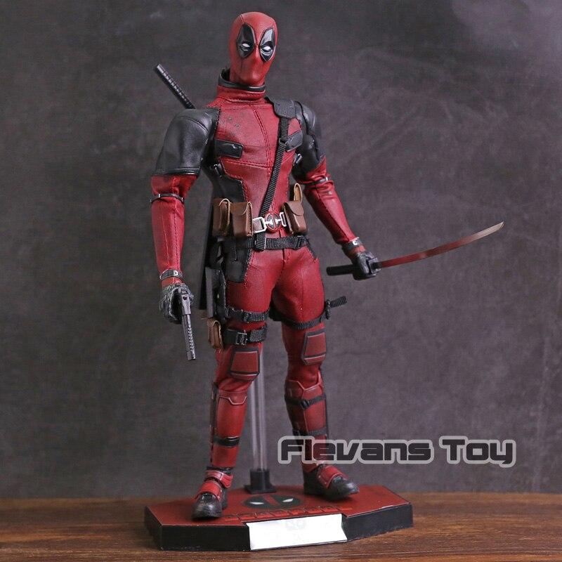 Hot Toys Marvel Deadpool 1/6 Scale PVC Action Figure Collectible Model Toy porta celular para hacer ejercicio