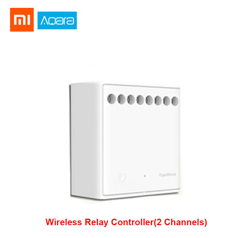 Xiaomi Mijia Aqara Eigenstone Two-way Control Module Wireless Relay Controller 2 Channels Work For Mijia Mi Home APP Home Kit