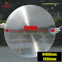900mm Dia Big Round PMMA Plastic Solar Fresnel Condensing Lens Focal Length 890mm for Magnifier,Large Solar Concentrator