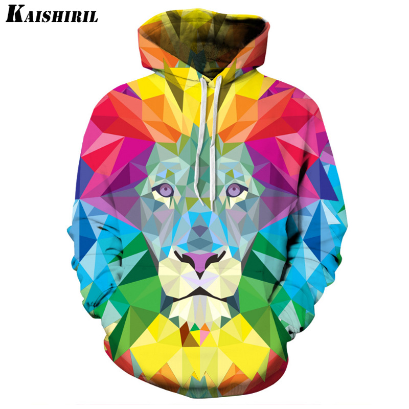 Man Zipper Sleeveless Hoodie Sun Moon Lion 3D Printed Sweatshirts Hoodies Tops