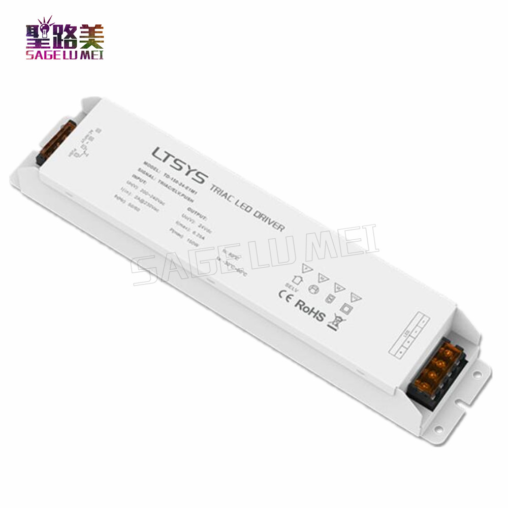 TD-150-24-E1M1 150W 24VDC constant voltage CV Triac Dimmable LED Driver for led light kvp 24200 td 24v 200w triac dimmable constant voltage led driver ac90 130v ac170 265v input