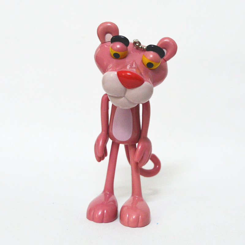 The Pink Panther animal pink leopard PVC Figure Toys with Keychain doll pendant moved joint gift 13CM диван пижон принцесса pink leopard 136142