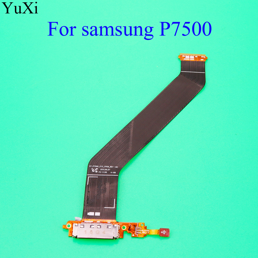 YuXi For Samsung Galaxy Tab 10.1 P7510 GT-P7510 P7500 GT-P7500 USB Charging Port Microphone Flex Cable Ribbon Replacement Parts