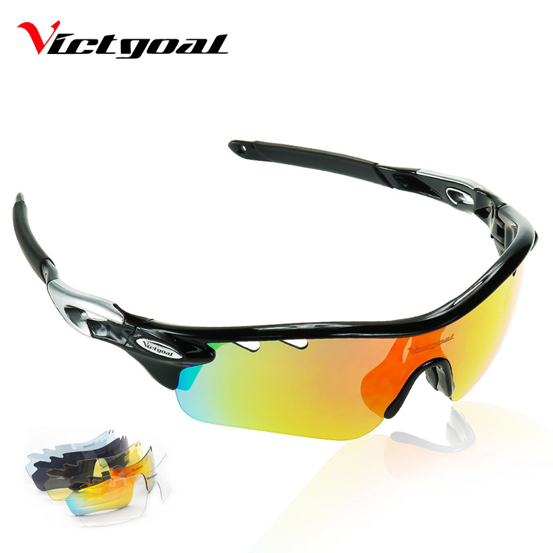 VICTGOAL Polarized Cycling Glasses Unisex TR90 Bicycle Sunglasses Outdoor Sport MTB Fishing Running Cycling Bike Eyewear 5 Lens
