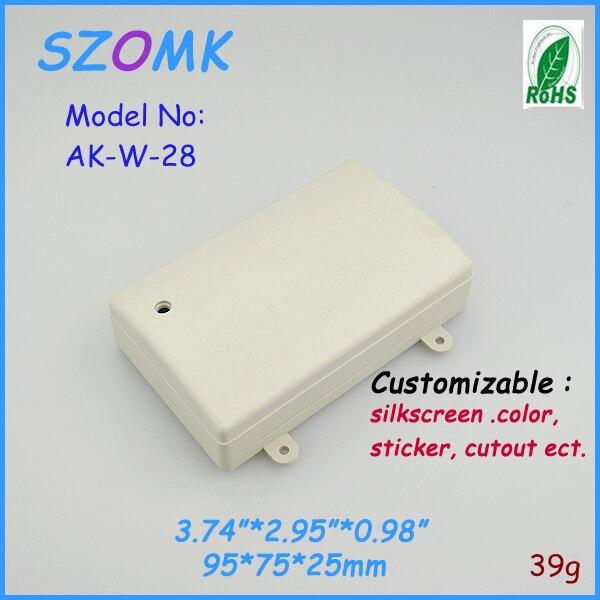 eddcaed40c7 Caixa do instrumento de plástico projeto eletrônica (2 pcs) 95 73 25mm caixa  de Plástico gabinete ABS habitação para a eletrônica caixa de plástico