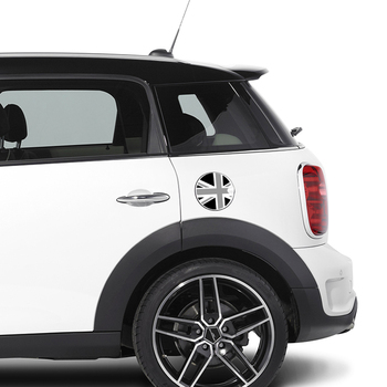 Aliauto Car Styling Fuel Tank Cap Sticker Oil tank Decals 16cm x 16cm For Mini Cooper Countryman R50 R52 R53 R58 R56 2pcs set door rear view mirrors cover case sticker decal car styling for mini cooper one s r50 r52 r53 2002 2006 accessories