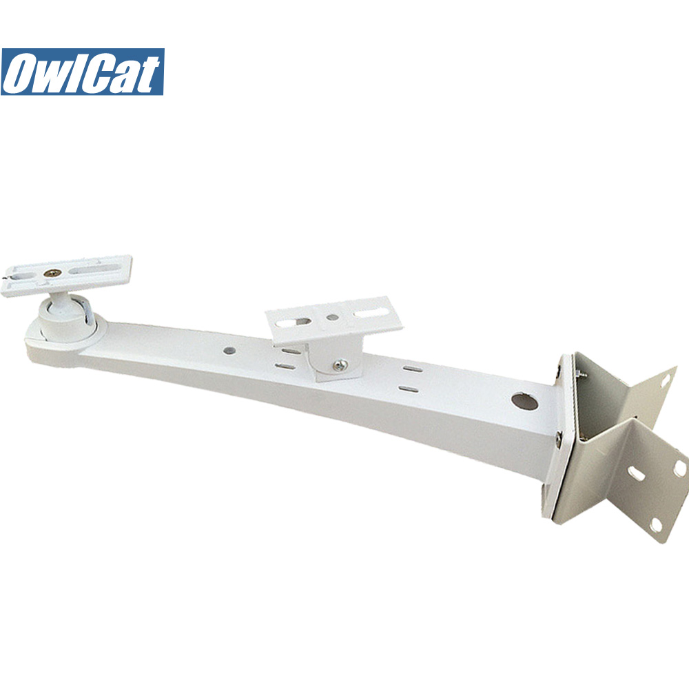OwlCat External CCTV Cameras Stand Corner Stand holder Outdoor Bullet Camera Wall Corner Mounting CCTV Bracket Double-head free shipping universal metal white wall mount stand bracket for cctv security camera