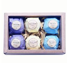 APINKGIRL Bath Bomb Ball Essential Oil Handmade SPA Bath Fizzy Skin Care Oil Sea Salt 6pcs/set Free Shipping