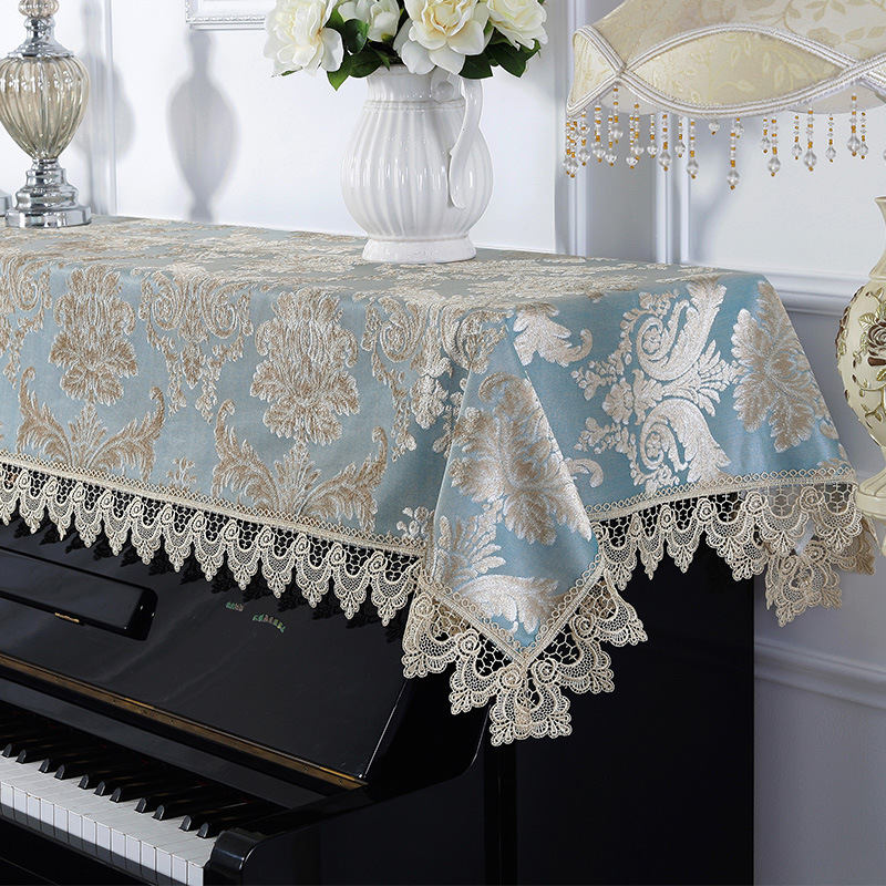 European style embroidered lace piano towel home wedding decoration textile Half cover general size Elegant piano towels