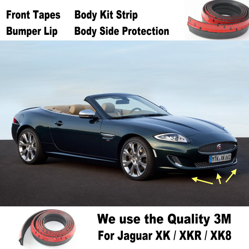 Car Bumper Lips For Jaguar XK / XKR / XK8 / Spoiler For Car Tuning / Body  Kit Strip / Front Tapes / Body Chassis Side Protection