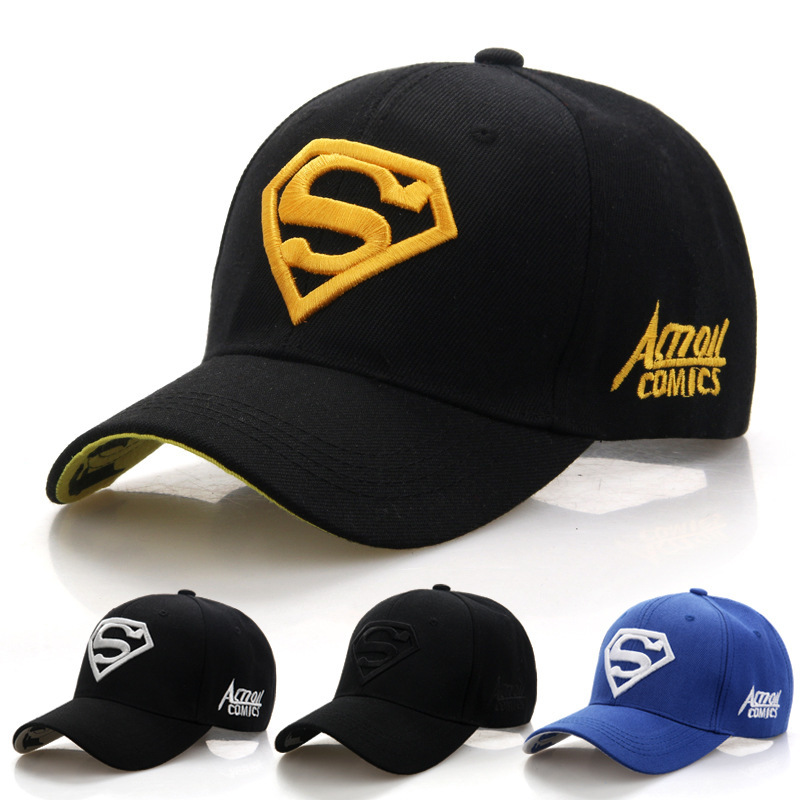 2018 Superman Baseball Caps Man Outdoor Sport Embroidered Letter Snapback Cap Woman Sunscreen Motorcycle Hats Couple Hat Hip Hop 2015 man woman baseball hats new brand caps m casual sports hat snapback hat gorra hombre solid cappello hip hop baseball cap