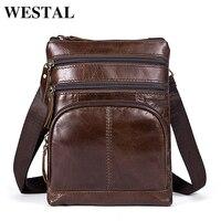 WESTAL Men S Bags Male Small Men Leather Messenger Bag Men S Shoulder Bag Genuine Leather
