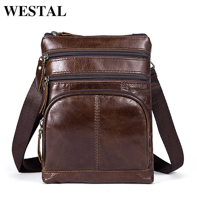 WESTAL Мужская сумка мужская Маленькая мужская кожаная сумка через плечо мужская  сумка из натуральной кожи для 36e2391e27f