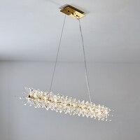 New design modern crystal lamp pendant lights AC110V 220V lustre LED dinning room living room nordic lighting