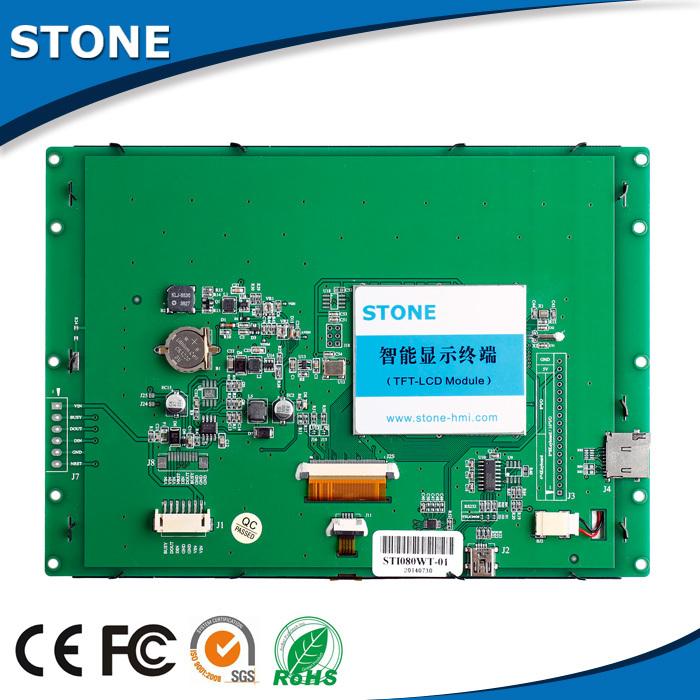 STONE 5.6 Inch 640*480 TFT LCD Display Panel With UART Interface + CPU + GUI Design