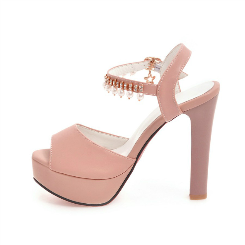 púrpura Alto rosado Tacón Zapatos Banquete Negro Mujer De Moda blanco Sandalias Sexy qXWxvF6pw