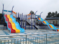 Big Water Park Equipment Water Playground Slide Direct Factory HZ5528C