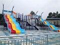 Grande equipo Water Park agua diapositiva del patio directo de fábrica HZ5528C