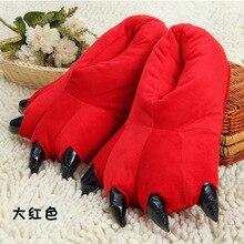 SunNY Everest family slipper Winter Warm Slipper animals tiger cute cartoon household slippers plush toys women shoes 39 43
