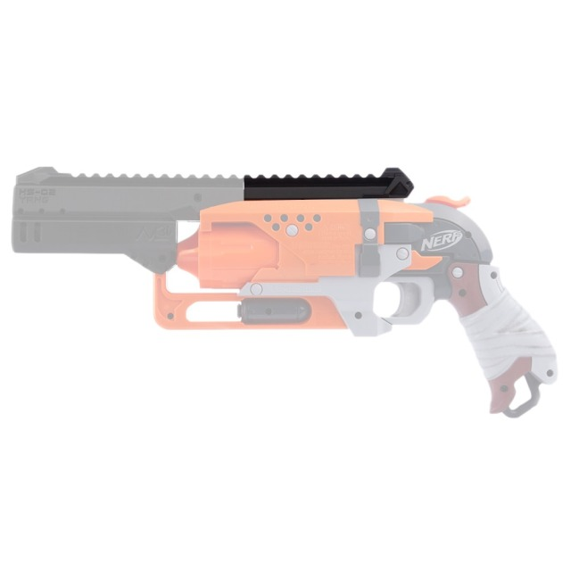 maliang 3d printing modified hs top rail for nerf zombie strike
