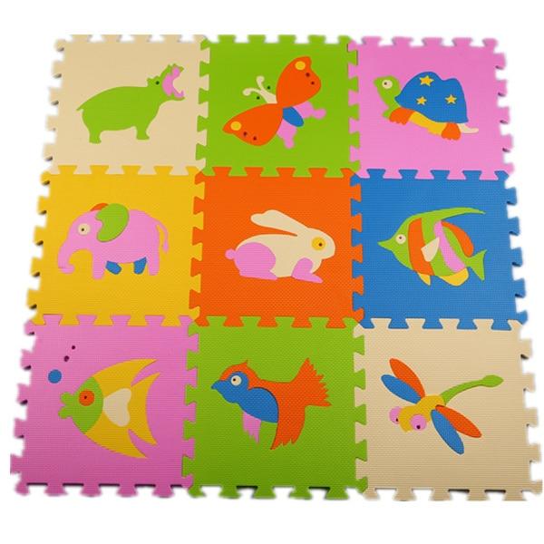 Мат/ковер/ковер типа животных Детские безвкусно охраны окружающей среды EVA мультфильм спальный коврик Головоломки Mat/30*30 см, бесплатная доставка