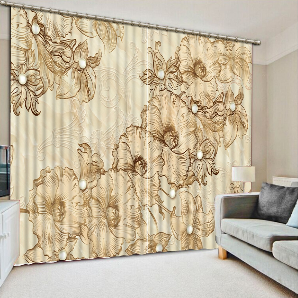 Curtains for bedroom 2016 - 2016 Fashion 3d Home Decor Beautiful Modern Style Flower Curtains For Bedroom Home Decoration China