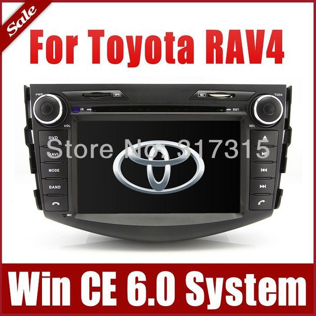 "7"" 2-Din Car Radio Car DVD Player GPS Navigation for Toyota RAV4 2006-2012 w/ Bluetooth TV USB SD AUX Map Audio Video Stereo"