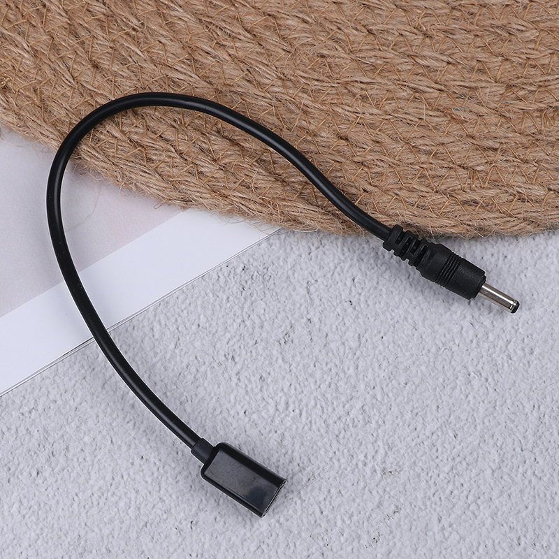 1pc 20cm <font><b>DC</b></font> Power Micro Usb Female Socket To <font><b>Dc</b></font> Male <font><b>Plug</b></font> Adapter Cable <font><b>3.5</b></font> X <font><b>1.35mm</b></font> Connectors image