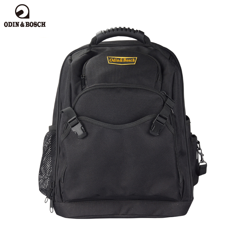Odin&Bosch Double shoulder tool backpack telecommunication electrician air conditioning maintenance with heavy tool bag growth of telecommunication services