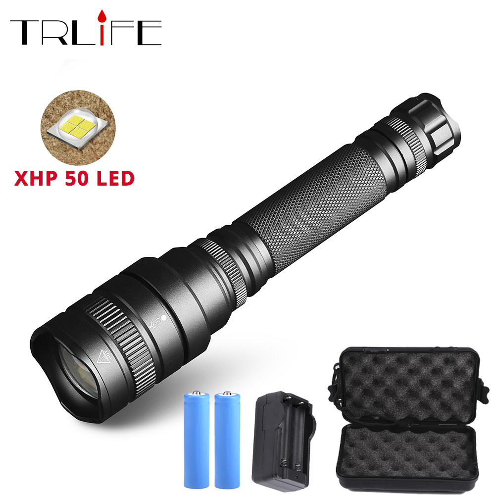 XHP70.2 LED Flashlight Zoom 15000Lums 5 Modes Waterproof XHP70 Flashlights  XHP50 Torch Anti-slip Hand ropet By 2*18650 BatteryXHP70.2 LED Flashlight Zoom 15000Lums 5 Modes Waterproof XHP70 Flashlights  XHP50 Torch Anti-slip Hand ropet By 2*18650 Battery