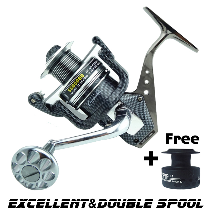 High Quality SSG Spinning reel Metal body Mix drag 15kg/32lb Super strength 12+1BB fishing reel Saltwater for sea fishing